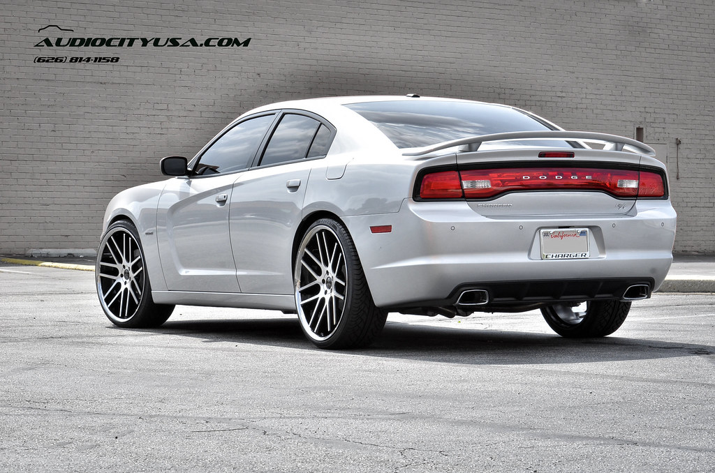 24quot gianelle yerevan black machine on 2014 dodge charger rt by audio city wheels on flickr - Dodge Charger 2013 White Black Rims