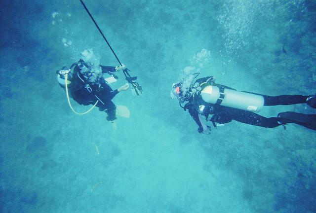 Two PADI Divers, Oahu