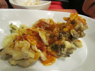 Vege Cafe - Tempura with Tomato Chili Sauce