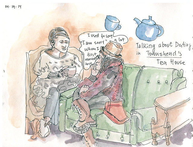 Talking about dating in Portland over a cup of tea