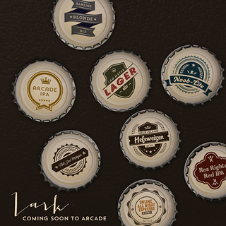 Bottlecap Beer Magnets (comes w/espresso colored mini-polar fridge)