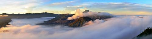 panorama fog sunrise indonesia volcano java gunung bromo seaofsand oceanofclouds mahameru penanjakan cemorolawang tenggersemeru