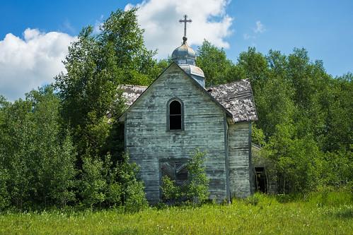 abandoned church manitoba pineriver rural canada ca