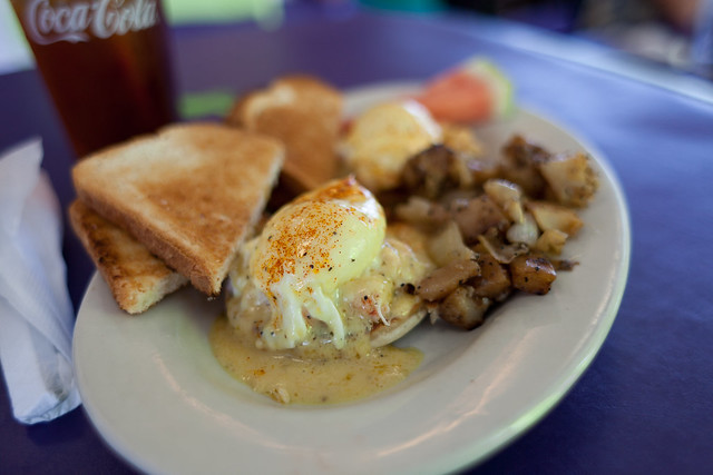 Seafood Eggs Benedict @ Taylor Cuisine Cafe | Flickr - Photo Sharing!