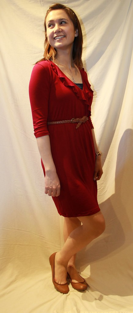 Casual wrap dress 012