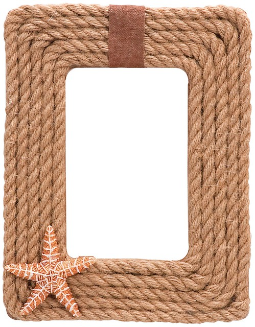 Rope with shell frame flickr photo sharing Rope photo frame