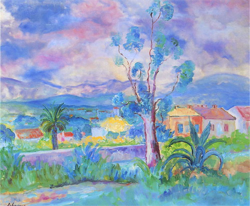 Lebasque, Henri (French,  1865-1937)  - Landscape in the Provence  - s.d.