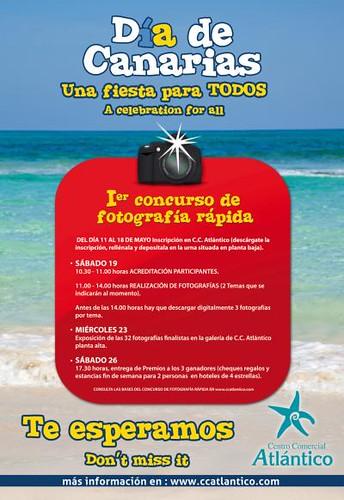 """Cartel I concurso fotografía rápida """"Día de Canarias"""""""