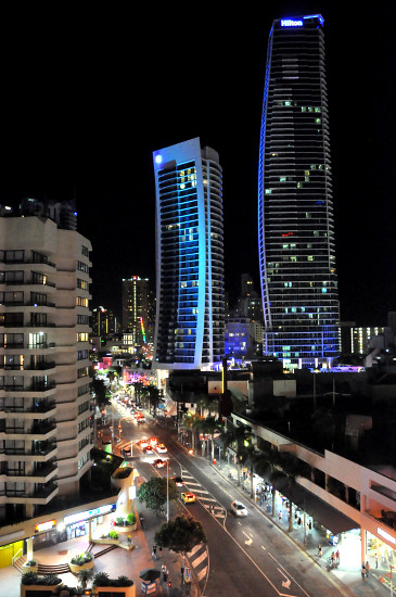 Night View of Surfers Paradise