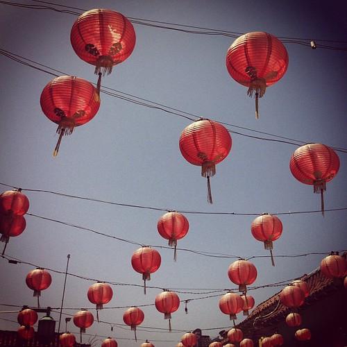 Chinese lanterns make me happy :) #chineselanterns #chinatown #losangeles #instagram #iphone