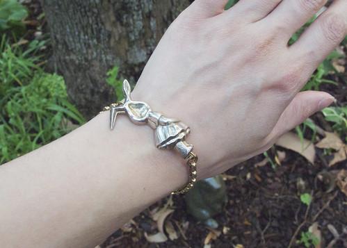 Bunny charm bracelet.