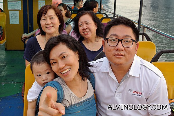 Me with my family, enjoying the boat ride
