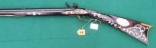 J. Clark, Lebanon, Ohio, ornate flintlock longrifle..