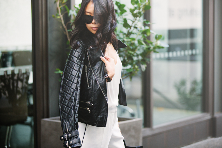 Zara Quilted Leather Biker Jacket