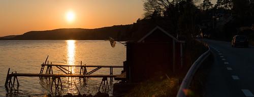 sunset sweden flag jetty sverige solnedgång brygga strandvägen kolmården flagga östergötlandslän canoneos5dmarkiii canonef70200mmf28lisiiusm
