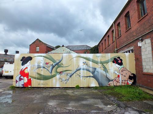 Peaceful Progress street at The Printhaus, Cardiff