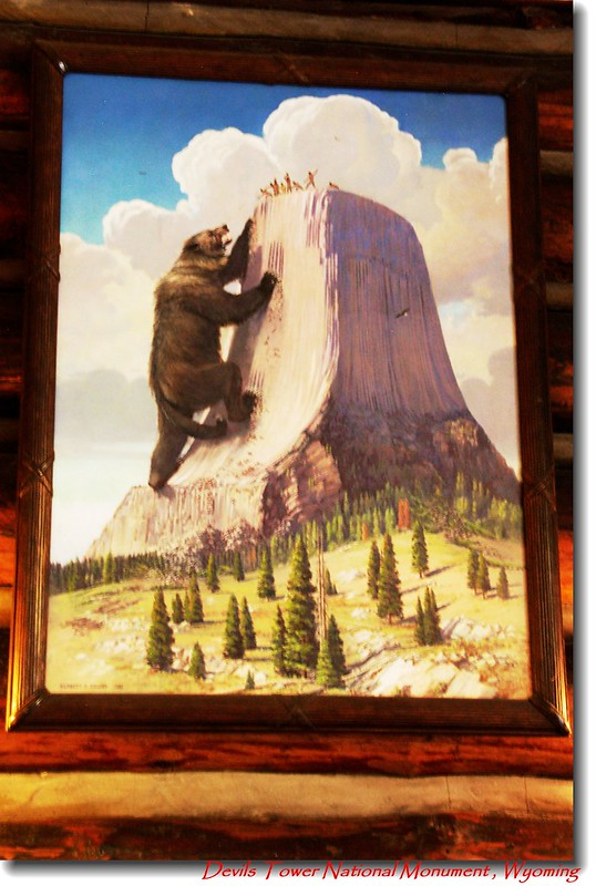 Painting of about Devils Tower legend