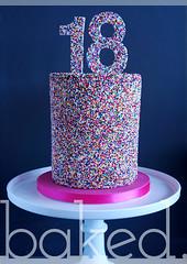 18th Sprinkle Cake