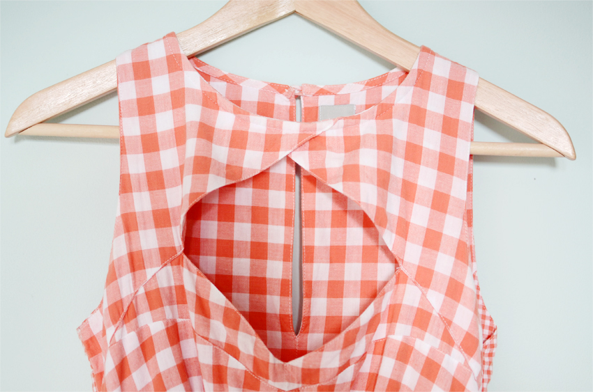 coral-gingham-sundress c