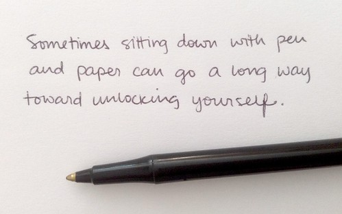 handwritten unlock yourself