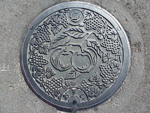 Sanyo Okayama, manhole cover (岡山県山陽町のマンホール)