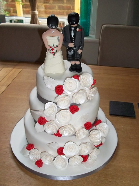 Motorbike Wedding Cake Topper