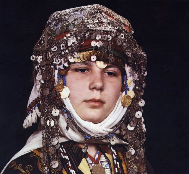 Headdress of a Turkmen bride, Merkez Kapıkaya, Turkey