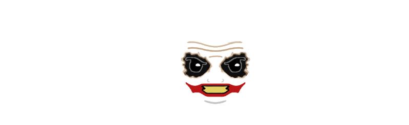 Lego Joker Face Decal TDK V2 | Flickr - Photo Sharing!