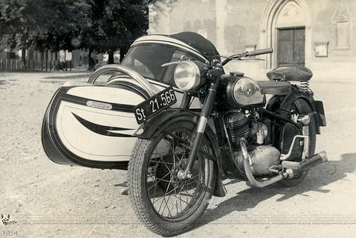 family archives vintagephoto ericosmann fathersmotorcyclein1954 leibnitzaustria franzandaloisiaosmann
