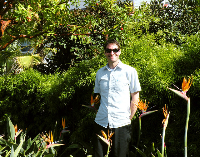 Mike with Sunny Birds of Paradise