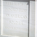 Tomb of Unknown Soldier - west detail - Arlington National Cemtery - 2012