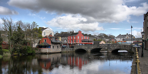 bridge sky clouds reflections river town boyle roscommon