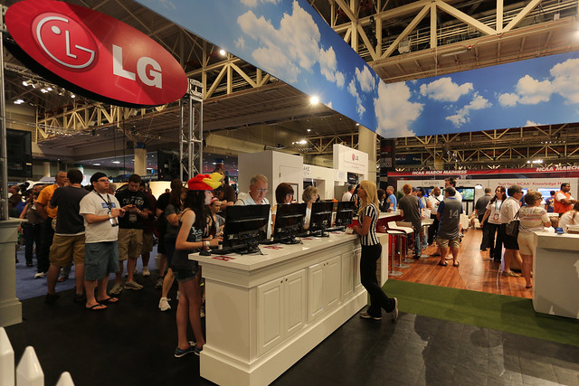 LG Booth at Bracket Town