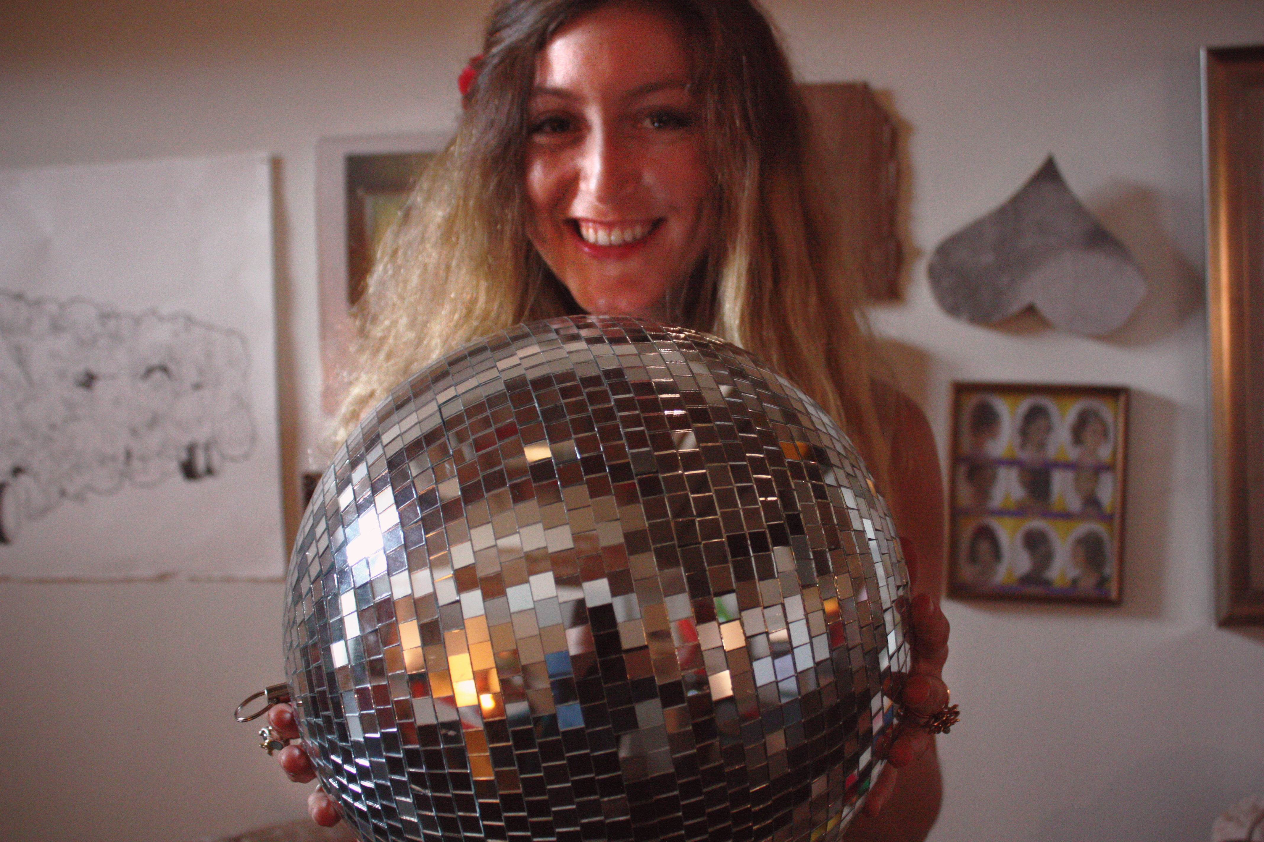 Allie Bashuk Local Wanderer Young Foxy and Free Glass and Sable Home Closet Tool disco ball brick loft
