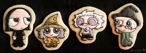 Hogwarts Heads-of-House Cookies.