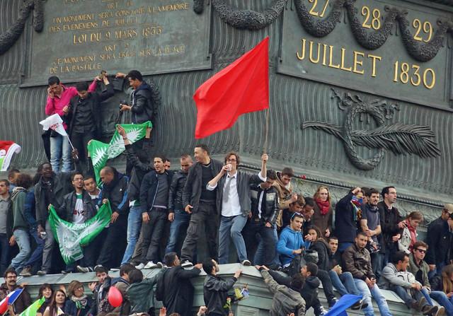 Paris-Election Day-Place de la Bastille, 5-6-2012-No 3