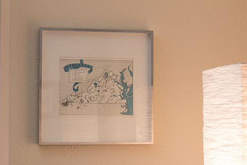 Virginia Map Frame