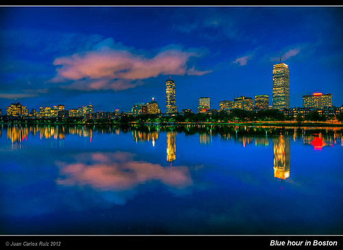 Blue hour in Boston - Massachusetts (USA)