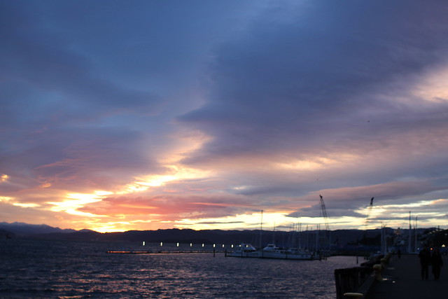 Monday: amazing dawn over the harbour