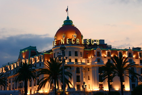 Le Negresco in the evening