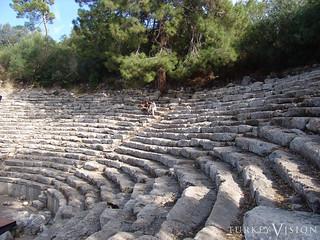 Theatre in Phaselis, Lycia, Antalya Turkey
