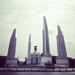 Riding around Bangkok to see the second-tier monuments. #bangkok #thailand #cooltoseebut #notamustsee