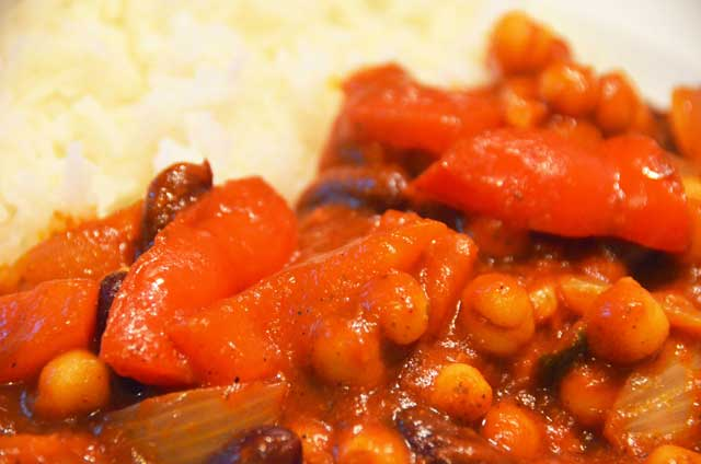 bean curry with rice