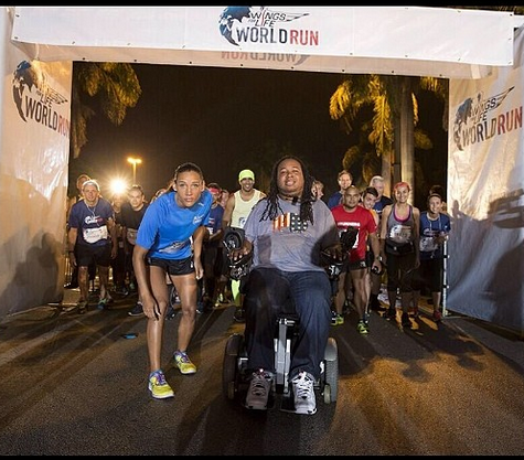 Eric LeGrand + Lolo Jones: WFL World Run Starting Line