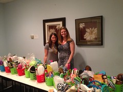 Mother's Day Baskets were delivered to Genesis Women's Shelter in Dallas.