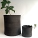 Signe charcoal flower pots by karin eriksson