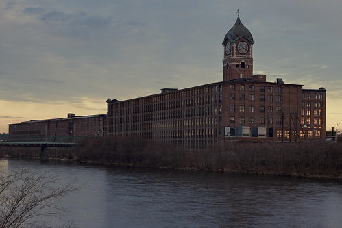 old sunset plant lawrence industrial massachusetts landmark textile hdr merrimackriver ayermill