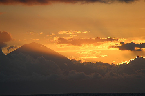 Mt Agung at sunset