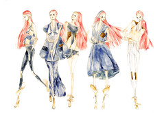 sketch, costume design, fashion design, drawing, fashion illustration, illustration,