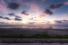Sunset over the Wadden Sea